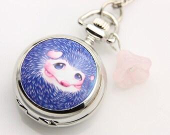 Necklace Pocket watch hedgehog 2222m