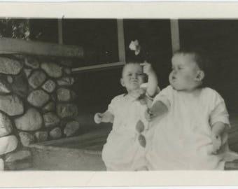 "Vintage Photo Snapshot: ""LaVonne & LaVerne, 1920-21"" (77591)"