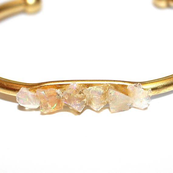 Natural Australian Opal Cuff Bracelet