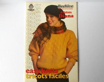 CIJ SALE Patons Beehive 458 EASY Knits with Patons Diana or Beehive Shetland Style Chunky