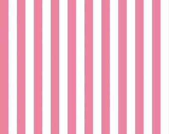Half Inch Stripe Pink: Riley Blake Designs 1 Yard Cut