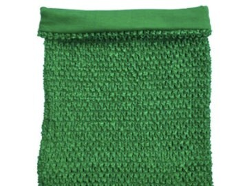 Green Tutu Top Crochet Tutu Top - 10 W x 12 H - Tube Tops, Dress Top, Tutu Supply