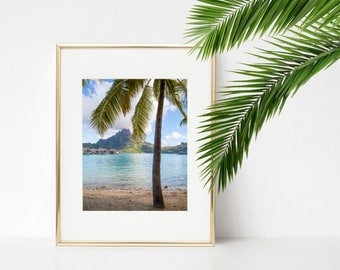Bora Bora Photography - Tahiti - French Polynesia - Mt Otemanu - Beach - Overwater Bungalow - Fine Art Photography Print - Home Decor