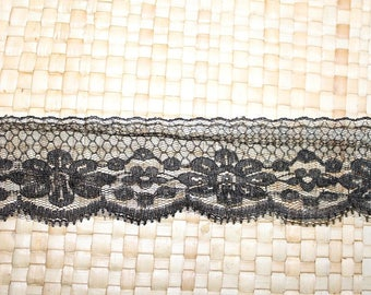 Long wide Black Lace that is 5cm wide