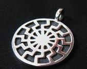 "Silver ""Black Sun"" pendant"