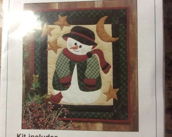 Snowman Wallhanging Quilt Kit