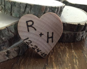50 Rustic wedding favor magnets barn wedding country favors true love bridal shower favors