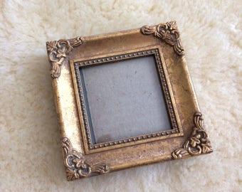 RESERVED FOR LYDIA vintage gold ornate picture frame