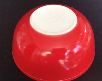 Red Pyrex vintage Pyrex bowl