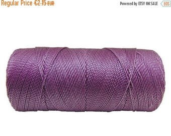 ON SALE Jewelry Cord, Macrame Cord, 15 meters/16 yards Beading String, Waxed Polyester, Friendship Bracelet Thread  - Lilac