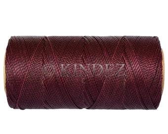 Waxed Polyester Cord - 1 spool - Macrame Cord - Jewelry Cord - Eggplant