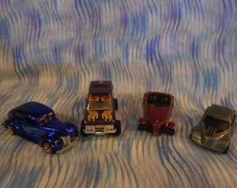 Four Vintage Die Cast Hot Rods Cars - Hot Wheels - Maisto