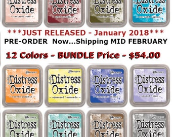 Tim Holtz Distress Oxide Ink Pads - 3rd RELEASE Jan 2018 - Full Set - 12 New Colors - Ranger Ink - Full Size - Pre Order - Ships Mid Feb
