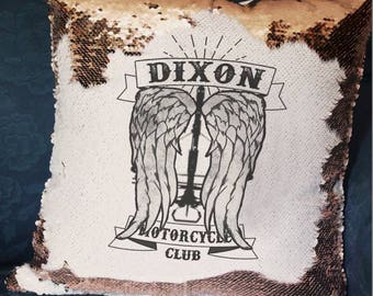 Dixon Motorcycle Club- TWD - The Walking Dead - Mermaid Cushion