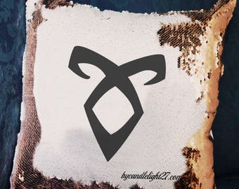 Shadowhunters, Runes, Shadowhunters Gift, Mundane, Angelic Symbol, Parabati, Shadowhunters cushion, Hidden Message, Mermaid Cushion