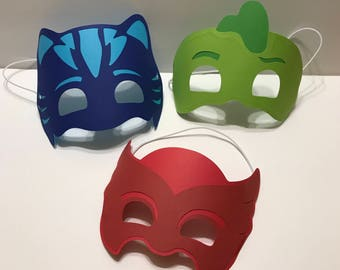3- PJ Mask Party Favor Birthday Party Supply Birthday Craft for Kids
