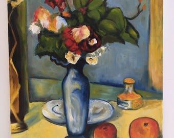 "Paul Cezanne Reproduction - Oil Painting - Still Life -Impressionist - Canvas art - 12"" x 16"""