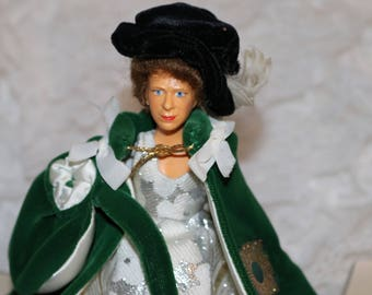 Vintage Peggy Nesbit Doll - H. M. Queen Elizabeth II- Robes of the Most Ancient and Most Noble Order of the Thistle - Original Box