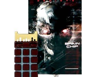 Terminator Genisys Endoskeleton Brain Chip Core Keychain, Movie Prop Replica, T-1000 Cyborg Robot, Neural Net CPU, Skynet Cyberdyne System