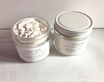 Organic Dry Hair Shampoo | orange + lavender | light hair | handmade | gift - vegan