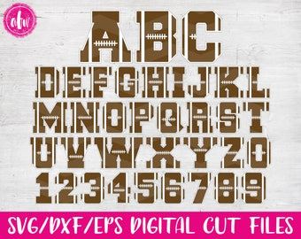 Football Letters & Numbers, SVG, DXF, EPS, Cut Files, Sports, Varsity, Vinyl, Winter, Silhouette, Cricut