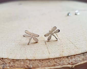 Dragonfly Earrings Stud Dragonfly Gift Silver Dragonfly Earrings