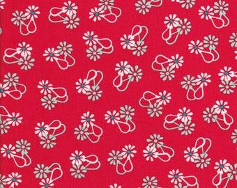 Daisy Fabric - Red Daisy Fabric - White Daisy Fabric - Hello Jane - Red Fabric - Windham Fabrics