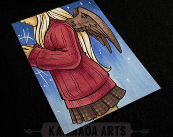 Angel - Artist Trading Card (ATC) Original Marker Work