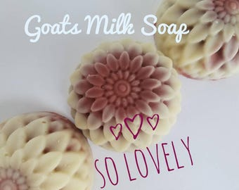 Pink Clay Soap, Facial Soap, Goats Milk Soap, handmade soap, organic soap, all natural soap, guest soap, dry skin soap, gifts for her, acne