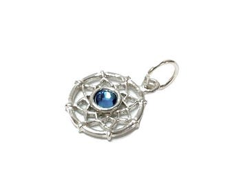 Sterling Silver Dreamcatcher Birthstone September Charm For Bracelets