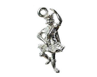 Sterling Silver Scottish Highland Dancer Charm For Bracelets