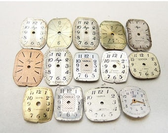 ON SALE Small Watch Faces - set of 14 - c124