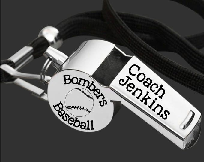 Baseball Coach | Coach Whistle | Coach Gift | Gift for Coach | Coach Appreciation | Personalized Whistle | Engraved Whistle | Korena Loves