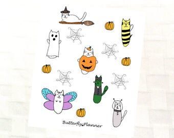 Tiggero Halloween Decorative Sticker Sheet for Your Planner