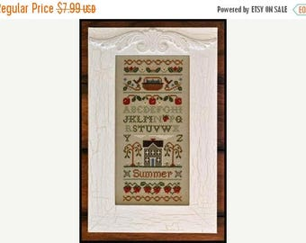 25% OFF SALE Little House Needleworks Summer Band Sampler Counted Cross Stitch Pattern