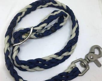 Rein grabber, safety rein saver, rein strap, horse tack, rein, navy  rein saver, braided tack