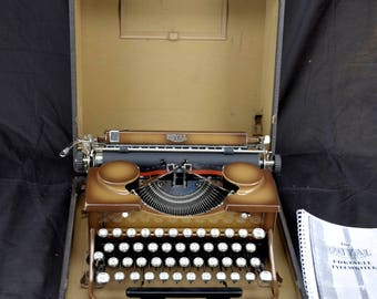 Refurbished 1931 Brown Royal Model P Portable  Typewriter w/ Warranty