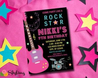Rock Star Invitation