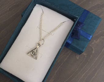 Harry Potter Deathly Hallows Silver Pendant