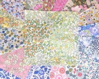 "16 x 5"" Squares - Light colours Lucky Dip Pack of Liberty London Tana Lawn"
