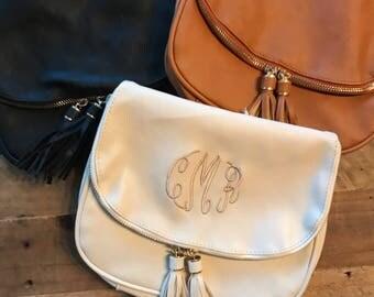 Monogram Purse - Monogrammed Crossbody Bag, Personalized Cross Body Handbag