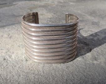 Native American Jewelry,Navajo Sterling Cuff,Silver Jewelry,Silver Cuff Bracelet,Wide Silver Cuff,Navajo Jewelry,Navajo Silver CuffBracelet