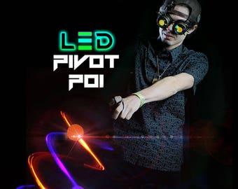 GloFX LED Pivot Poi: 9-Mode Soft Plastic Glow Balls Loop Handles Color-Changing Modes Multicolor Rave Light Up Flow Toy