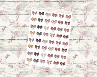 Hello Fall Bow Paperclip Functional Planner Stickers