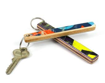 Recycled Skateboard Keychain