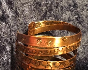 Copper 8 layer bracelet