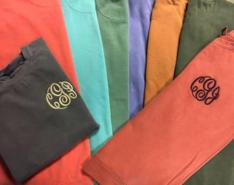 Monogrammed  Comfort Color Sweatshirts