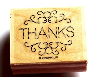 Dotted Thanks Frame Rubber Stamp Set retired from Stampin Up