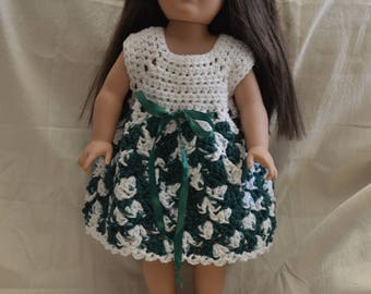 Crocheted Dress and Shoes for 18 inch Doll