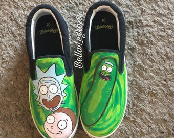 Custom Rick and Morty sneakers